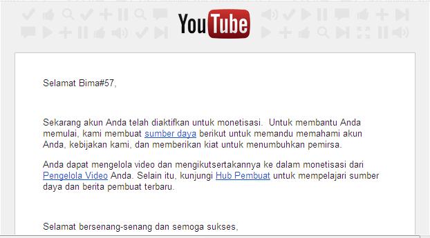 E-mail dari YouTube