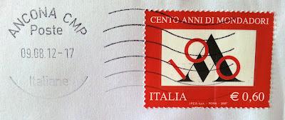 francobollo centenario Mondadori