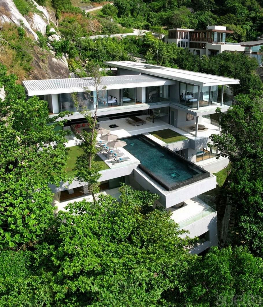 Amazing home breathtaking modern villa amanzi by original vision architects phuket thailand