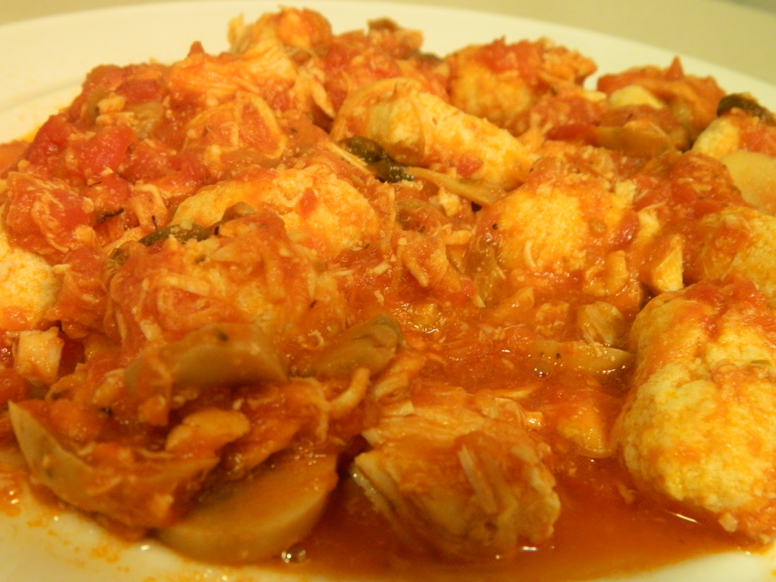 Ginny's Low Carb Kitchen: Chicken Marinara and Gnocchi