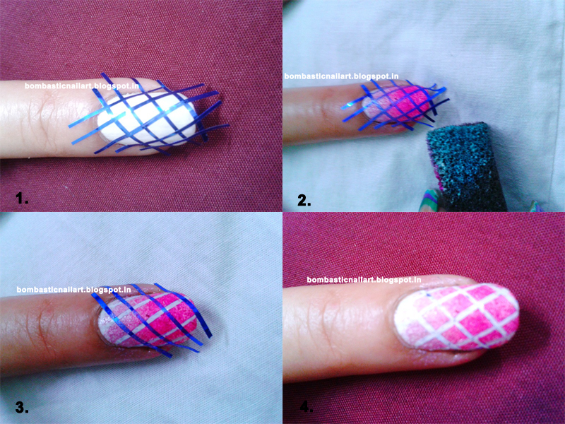 Easy Tips For Check With Gradient Nail Art – Bombastic Nail Art