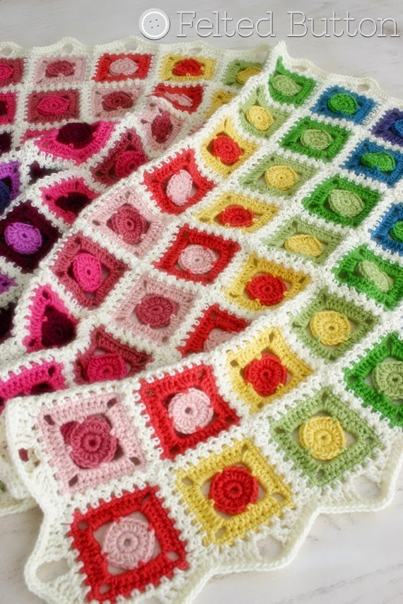 Felted Button Colorful Crochet Patterns And The Circle Takes The
