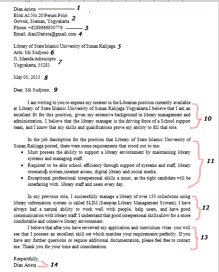 Contoh Surat Lamaran Pekerjaan Bahasa Inggris Ilmu