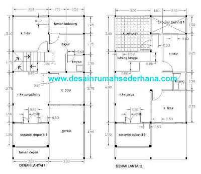 Gambar Denah Rumah Sederhana KPR -04