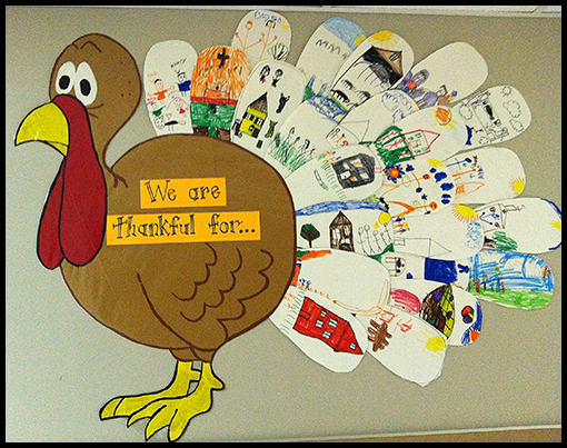 Mr first grade lots to be thankful for for Turkey crafts for first grade