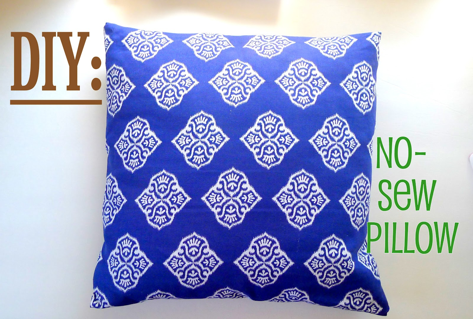 Diy No Sew Pillow: DIY  No  Sew Pillow,