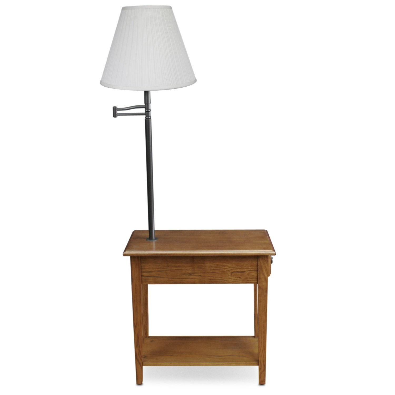 Total Fab End Table With Built In Lamp