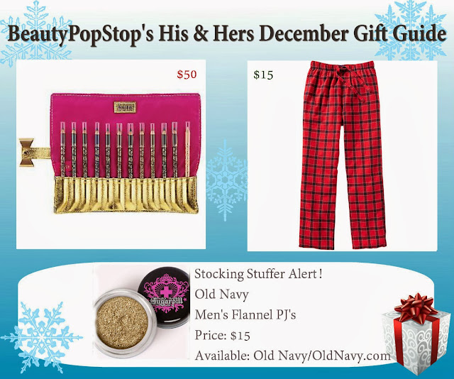 beautypopstop holiday his and hers december gift guide featuring tarte cosmetics, old navy and sugarpill