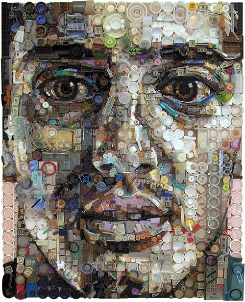 Zac Freeman, retratos reciclados