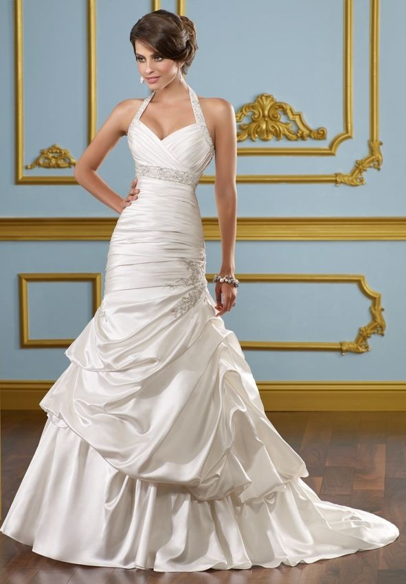 Whiteazalea simple dresses simple dresses make you a for Mermaid halter wedding dresses