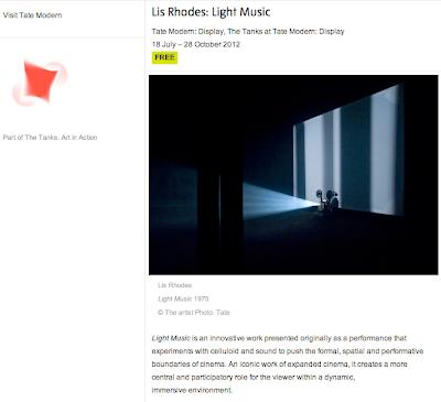 Lis Rhodes - Light Music - Tate, London