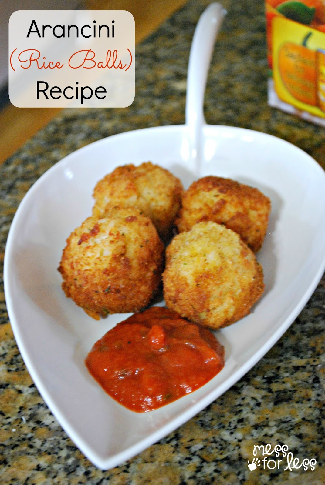 Arancini Recipe - It used to take a lot of work to make rice balls. Minute Rice is a great shortcut to make easy rice balls. #sponsored #MinuteHoliday