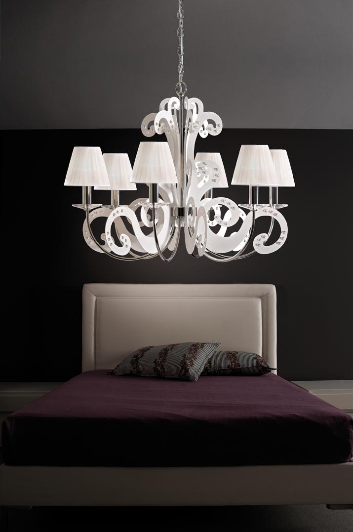 Lampadari moderni e di design soluzioni per l for Lampadario camera da letto contemporanea