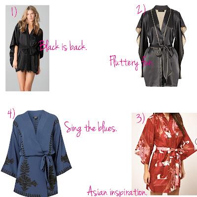 kimono, sleepwear, loungewear, intimates, Kiki De Montparnasse, Topshop, Asos, Shopbop, Jenny Packham, fashion trends, sexy kimonos, trend-spotting, trendspotting