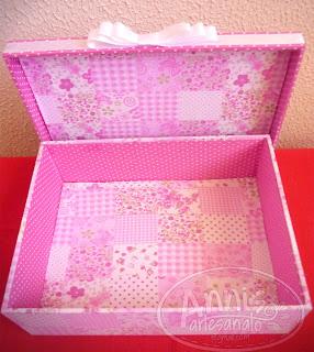 annis artesanato caixa rosa