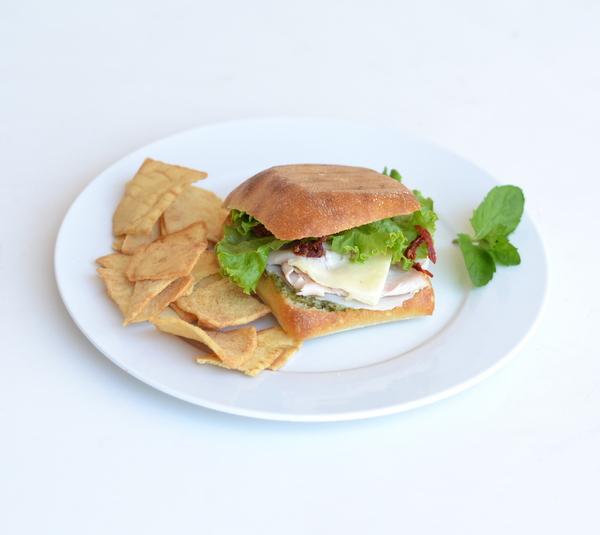 Turkey Pesto Sandwich on a Ciabatta Roll | Mr. Shine's Food Blog