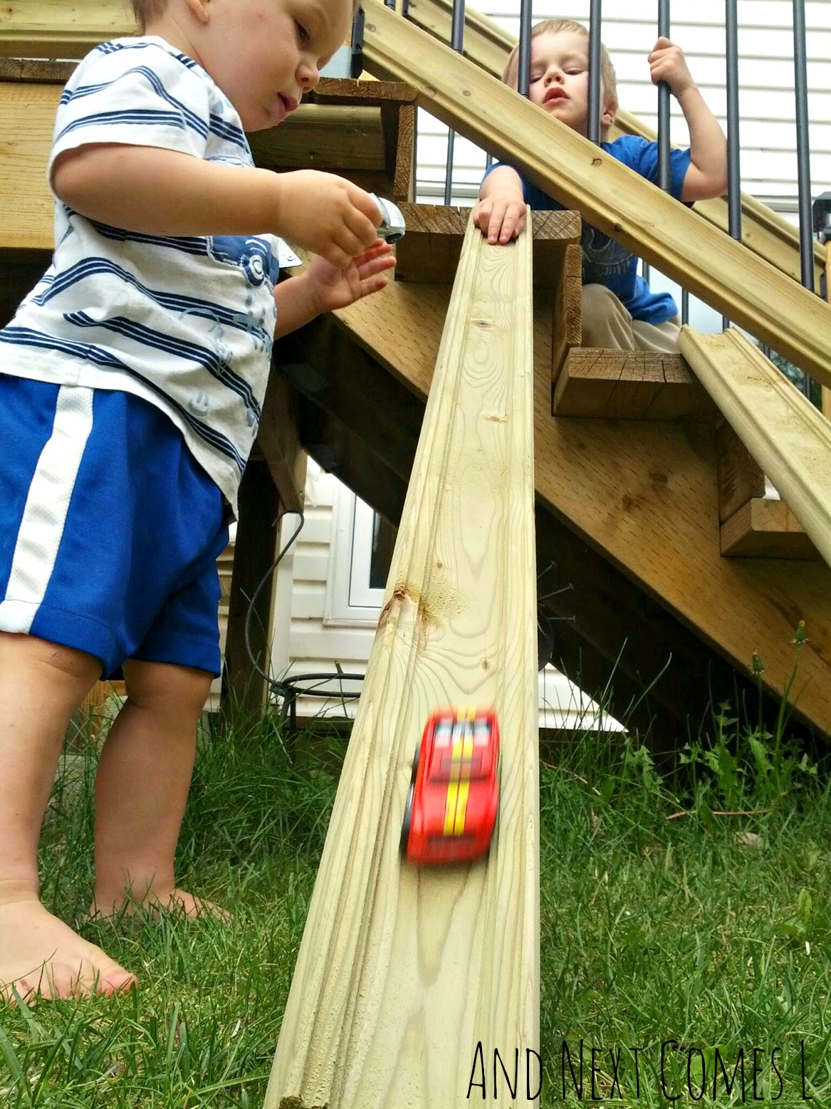 DIY outdoor ramps for car play from And Next Comes L