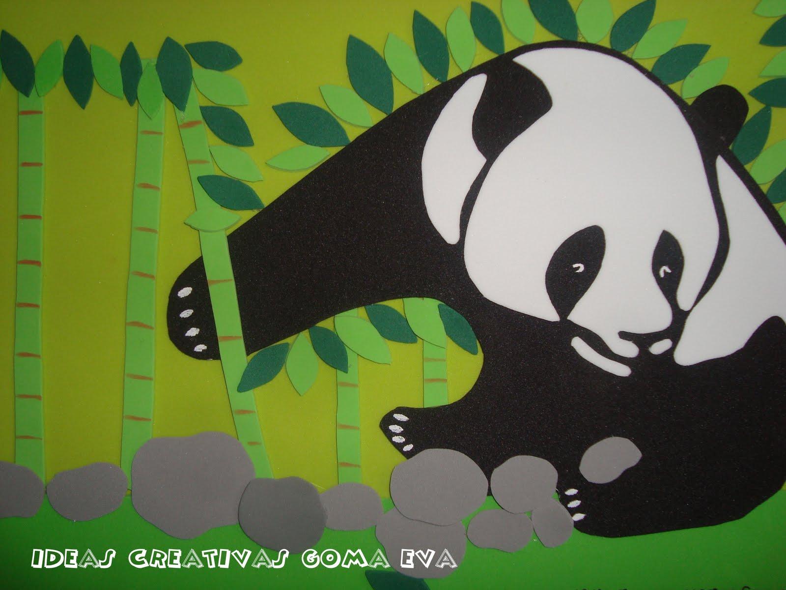 Imagenes • Oso panda goma eva