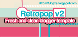 Retropop v2 Blogger Template