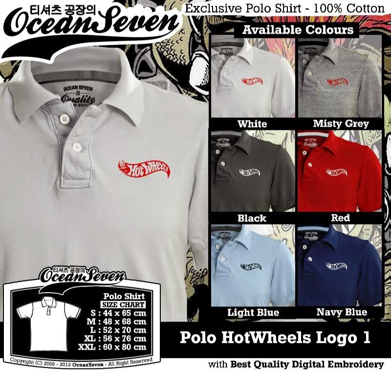 Kaos Polo HotWheels Logo 1