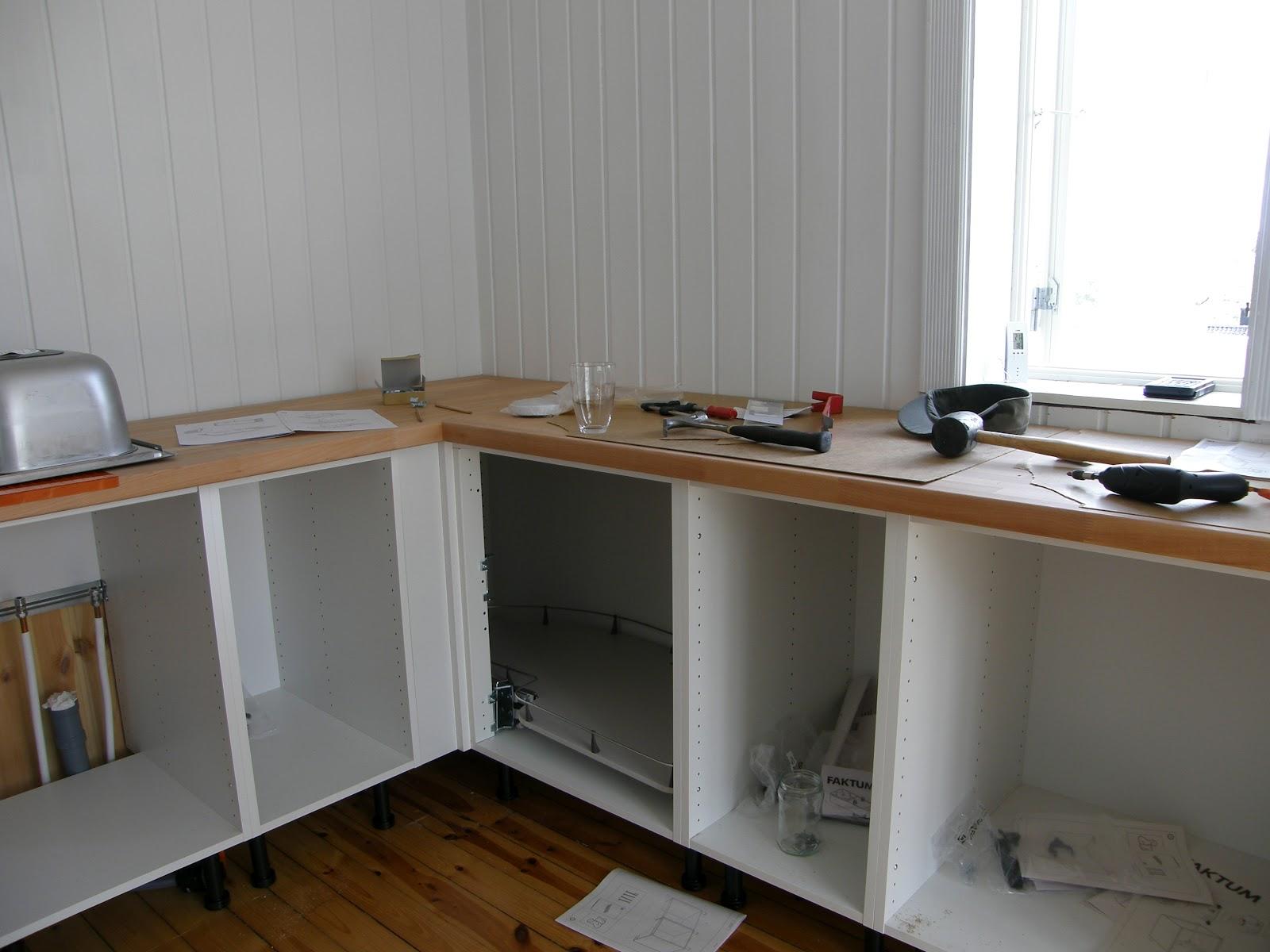 ... blitt! Vi har IKEA kj?kken, med Appl?d fronter. Vi er s? forn?yde