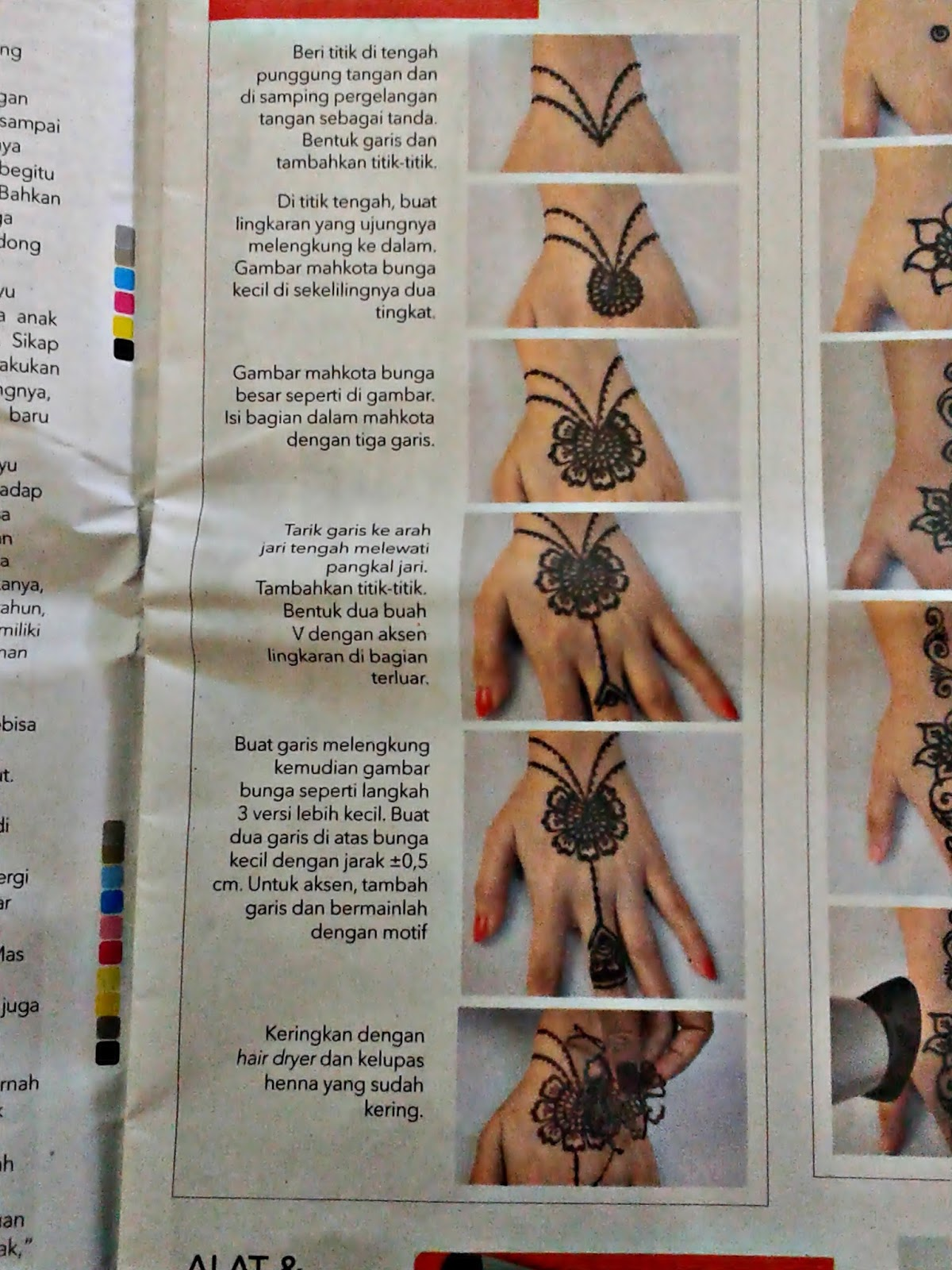 Tutorial Lukis Henna Oleh Nufus Art Di Tabloid Wanita Indonesia
