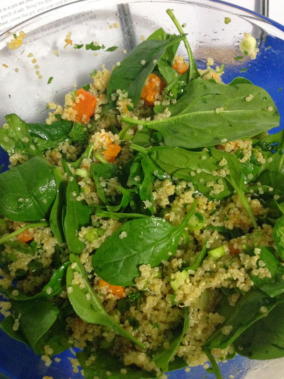 Quinoa with Butternut Squash, Scallions (spring onions) and Parsley from It's all Good.