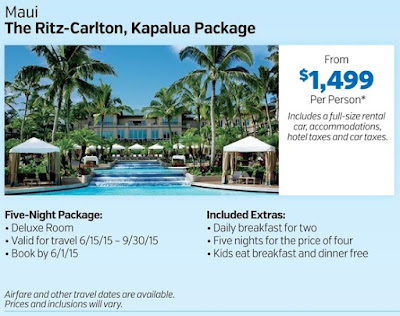 Hawaii Maui Ritz Carlton Kapalua Travel Package at Costco