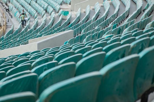 Cadeiras da Fonte Nova em Salvador serão de três tipos