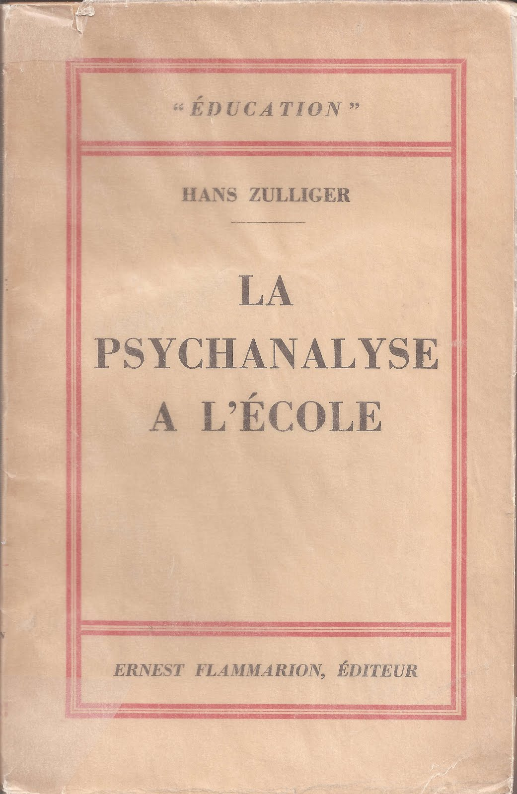 Hans ZULLIGER, 1er psychopédagogue?