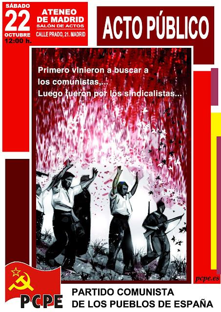 [PCPE] 22 de octubre acto contra la represión en el Ateneo de Madrid Cartel+acto+ateneo