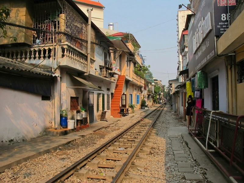 Passageway Train Track of Hanoi, Vietnam