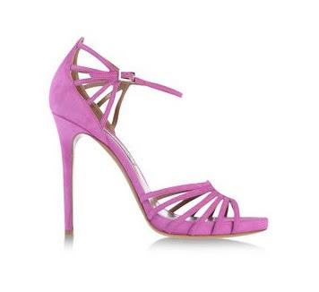 Tabitha Simmons purple high heeled sandals