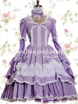 Lavender Medieval Classic Lolita Dress
