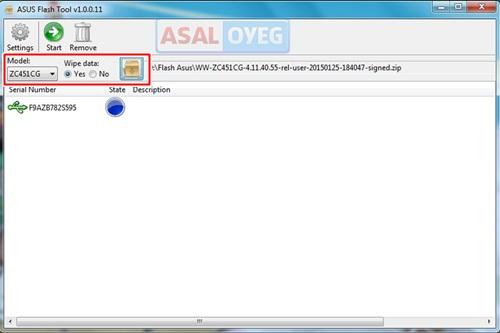 cara flash ulang asus zenfone c zc451cg z007 lengkap dengan gambar
