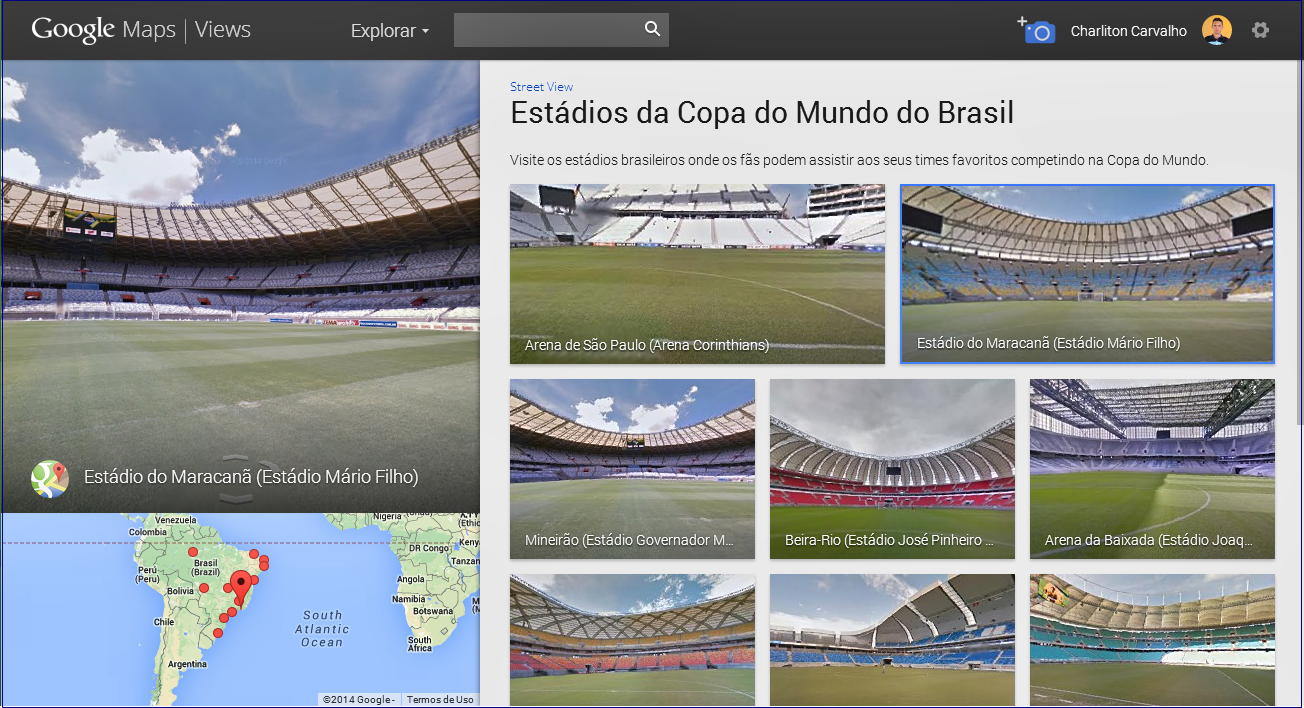 Street Views: Estádio da Copa do Mundo