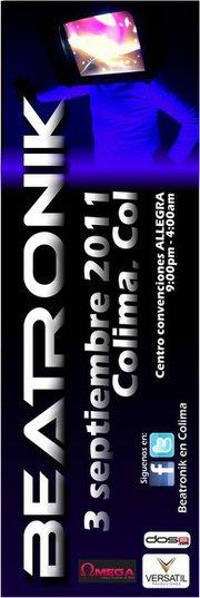 Flyer Beatronik en Colima este 3 de Septiembre