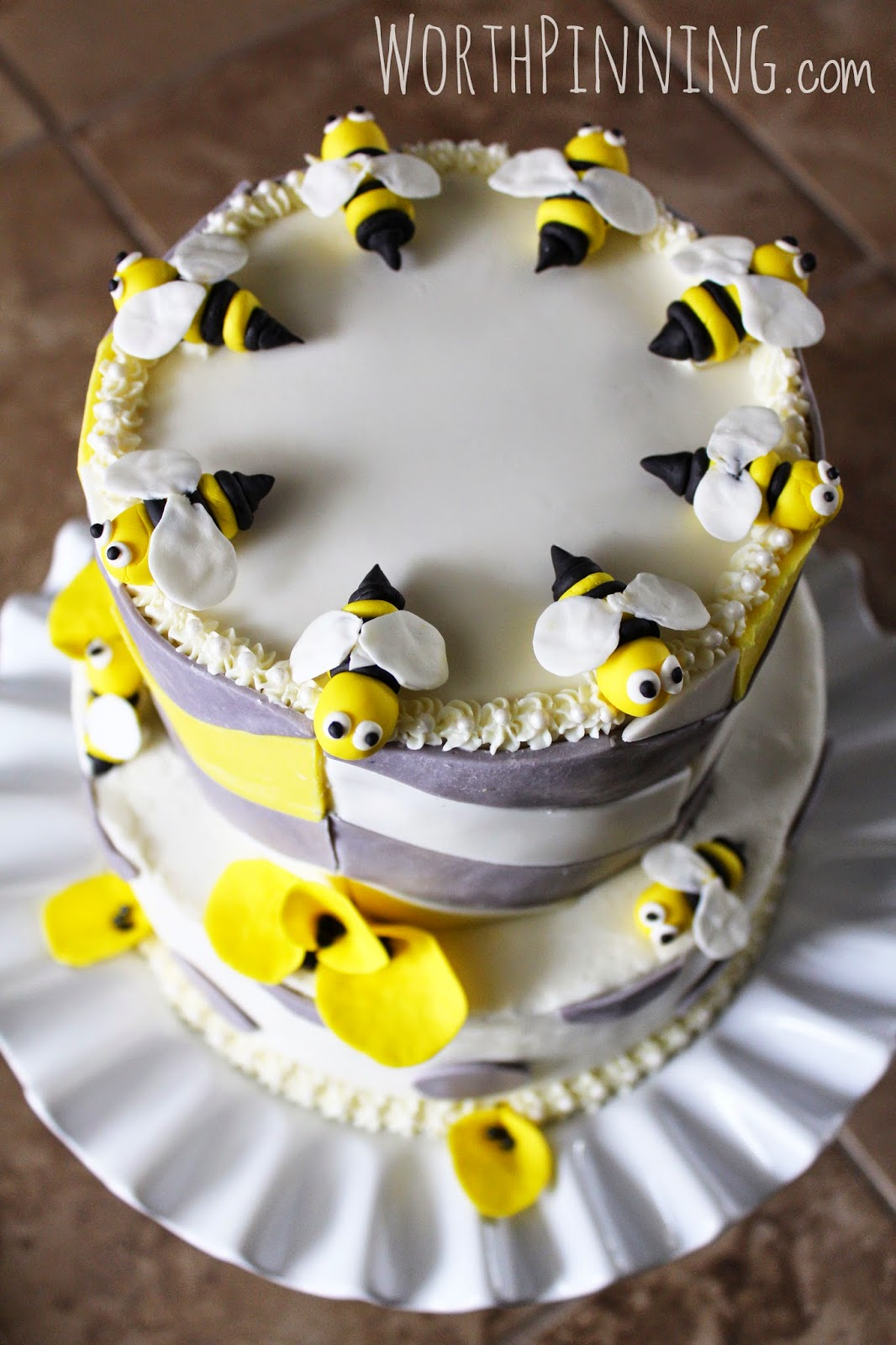 Bumble Bee Cake Or Cupcake Toppers