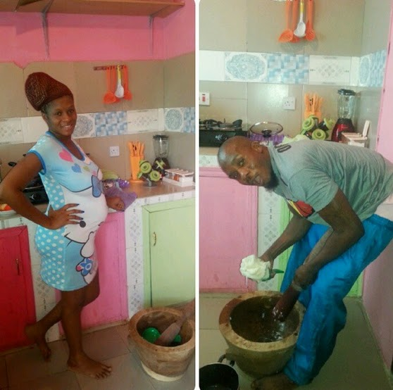 junior pope odondowo cooking for wife