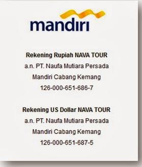 NO REKENING NAVA TOUR