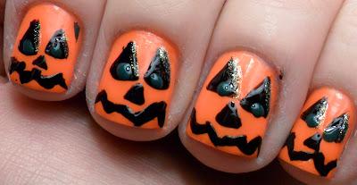 Foto uñas para Halloween Noche de brujas