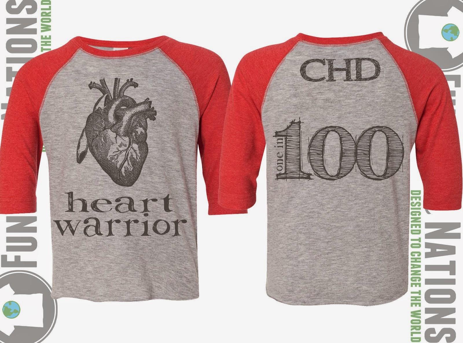Heart Warrior Red Raglan