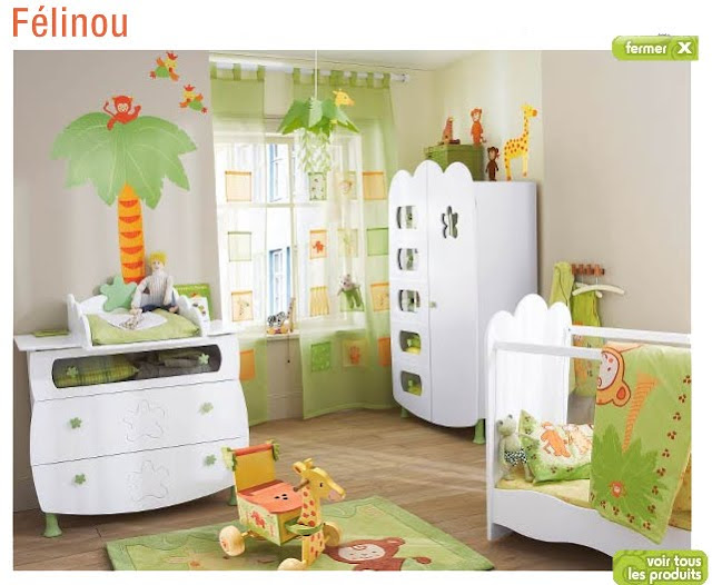 D coration jungle chambre b b id es d co moderne - Decoration pour chambre bebe ...