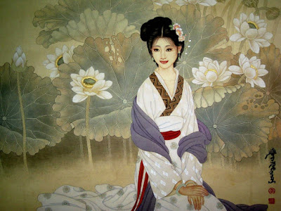 The 4 great  beauties of ancient China: painting of Xi-Shi