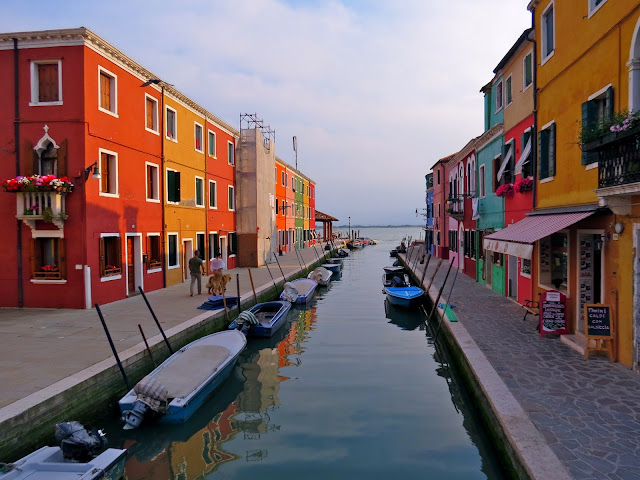 Burano island colorful houses