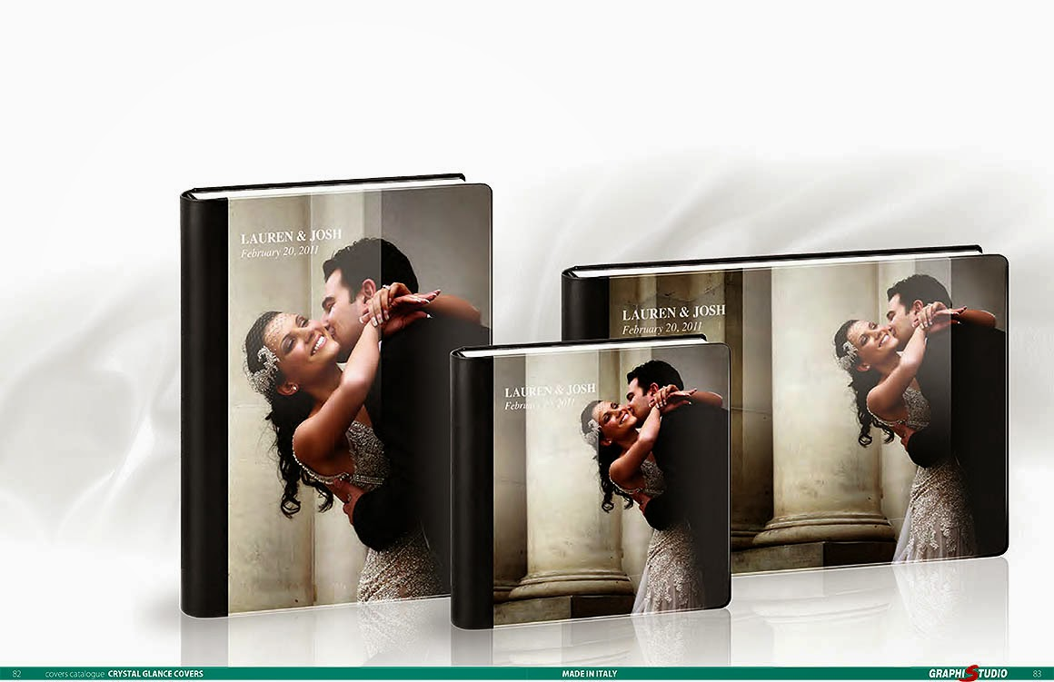 Italian designer wedding album by Graphistudio