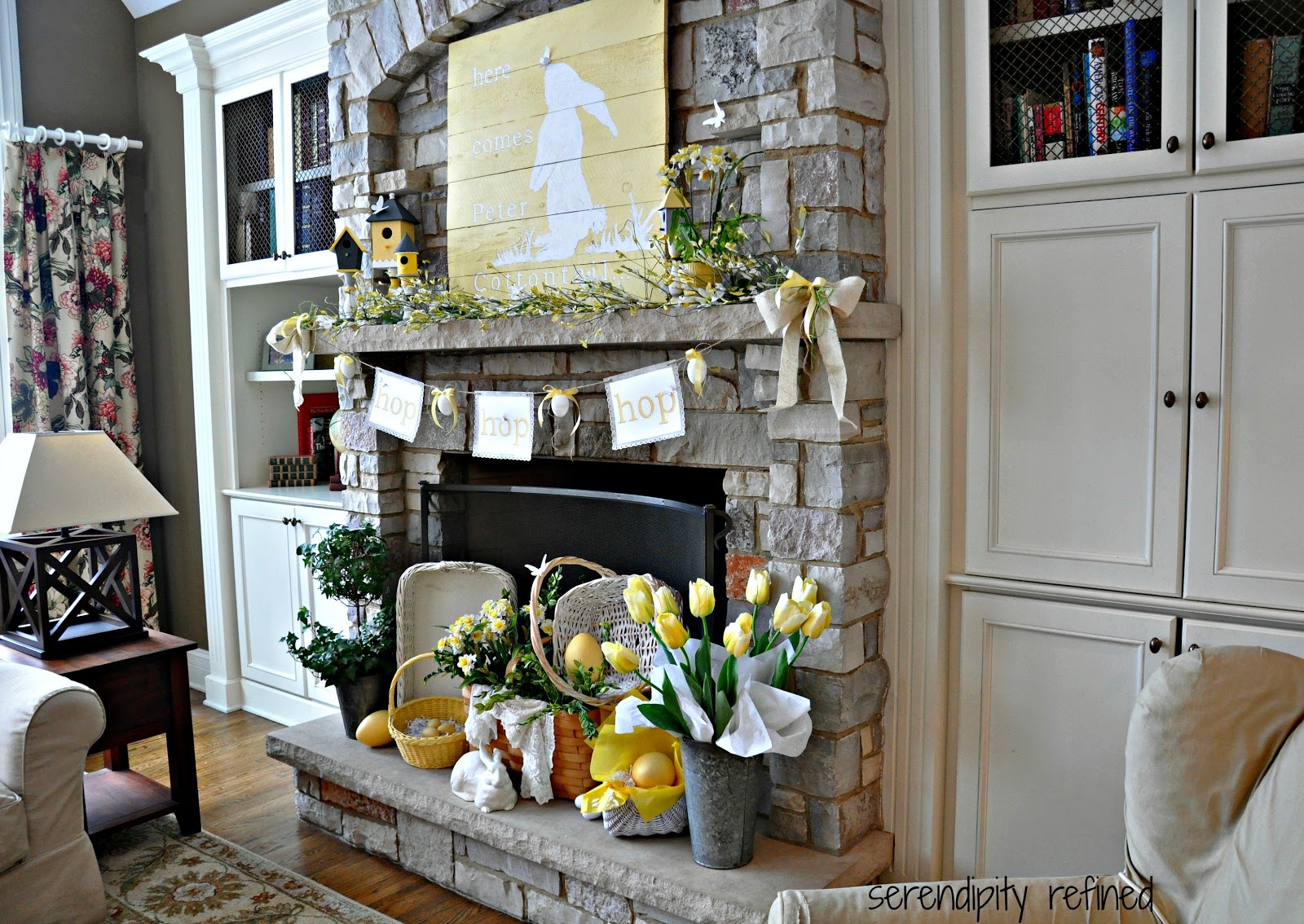 Easter Mantel Decorating Ideas Cottontail Spring C In Inspiration
