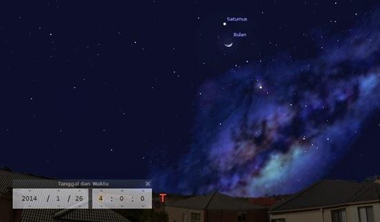 Bulan Dekat Saturnus dan Kembalinya Planet Venus