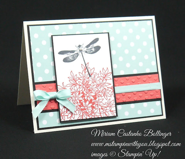 Miriam Castanho Bollinger, #mstampinwithyou, stampin up, demonstrator, ccmc, all occasions card, schoolhouse dsp, awesomely artistic, bridal shower card, su