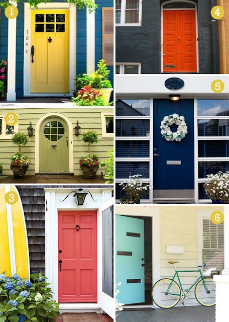 go big or go home paint your front door a bold color to give people a. Black Bedroom Furniture Sets. Home Design Ideas